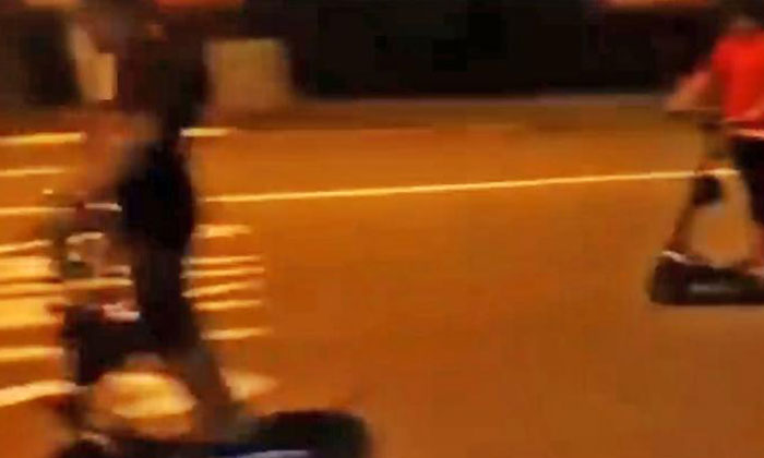 Screenshot of video taken. Photo: Shin Min Daily News