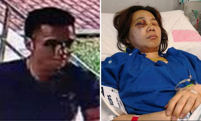 Police arrested a 23-year-old e-scooter rider (left) for knocking down a woman in Bedok on March 14, leaving her with head injuries. PHOTOS: SINGAPORE POLICE FORCE, LIANHE ZAOBAO