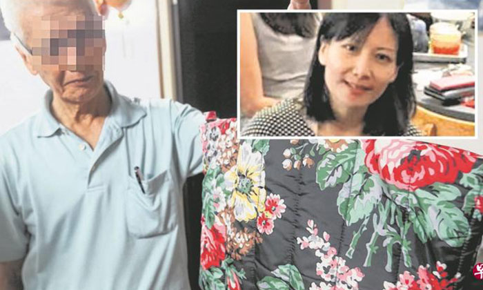 Mr Tan (left) said that his daughter (right inset) loved this bag while she was alive, and hed intended to hold onto the bag so he can preserve the memories of her.