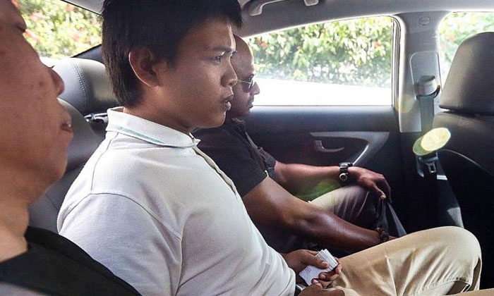 Muhammad Iskandar Sa'at attacked a policeman in 2015, snatching his revolver and firing shots that penetrated the officer's thumb and foot.THE NEW PAPER FILE PHOTO