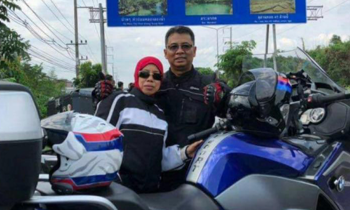 Mr Rosli Rahmat was killed in an accident along the North-South Expressway in Muar, Johor, on April 21, 2018. His wife, Ms Mahiran Safari, 53, suffered injuries to her face. PHOTO: FACEBOOK/AISHAH Y. RAHMAT