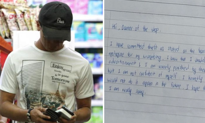 Well Groomed Smiley Shop Thief' sends apology letter with