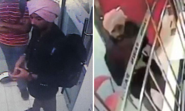 The police are looking for the man, who is about 1.75m tall and was last seen wearing a pink turban, blue jacket and long brown pants. PHOTOS: FACEBOOK/SINGAPORE POLICE FORCE