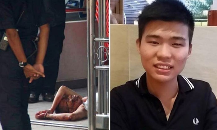 Mr Wu Mingda (right) was seriously injured after an alleged attack by the suspect,Yang Pingquan on Monday (July 2). PHOTO: LIANHE WANBAO