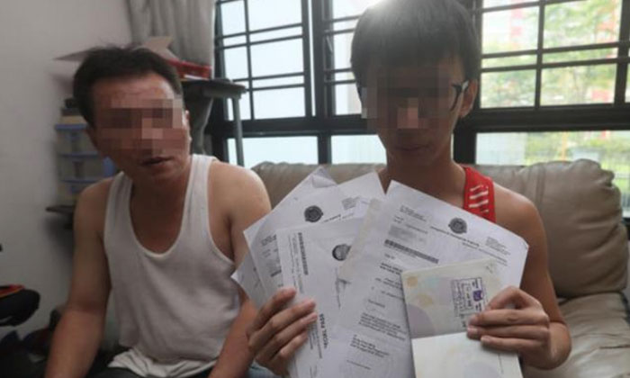 Mr Xu's father (left) said he was puzzled why his son's (right) citizenship was revoked. PHOTO: LIANHE WANBAO