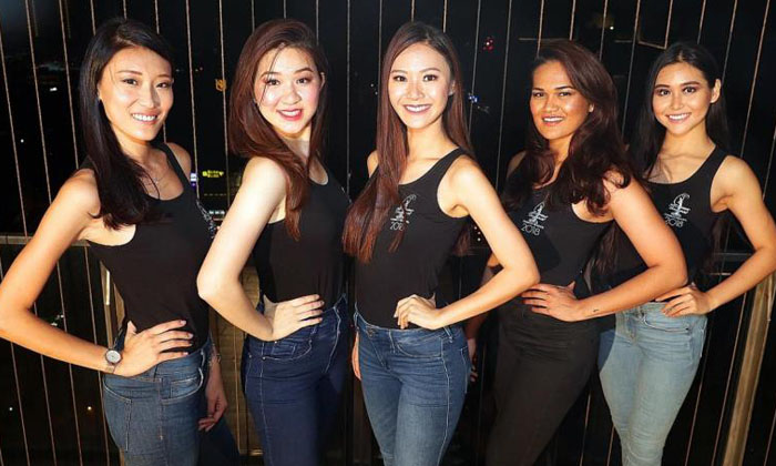 (From left) Contestants Sharin Keong, Loo May Tia, Jaslyn Tan, Hilary Rupawalla and Ischelle Koo are all set to put their best foot forward. Photos: TNP