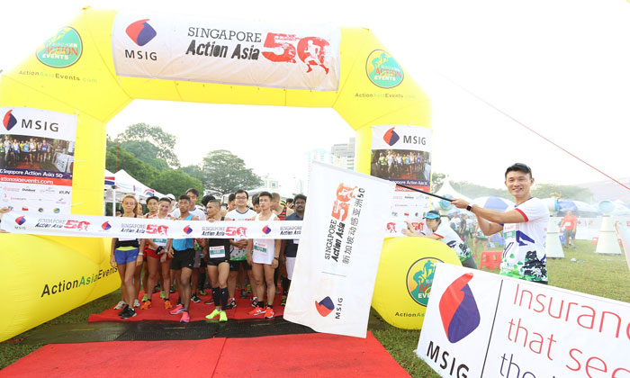 Mr Baey Yam Keng flagged off and participated in the Zero Waste 10km race.