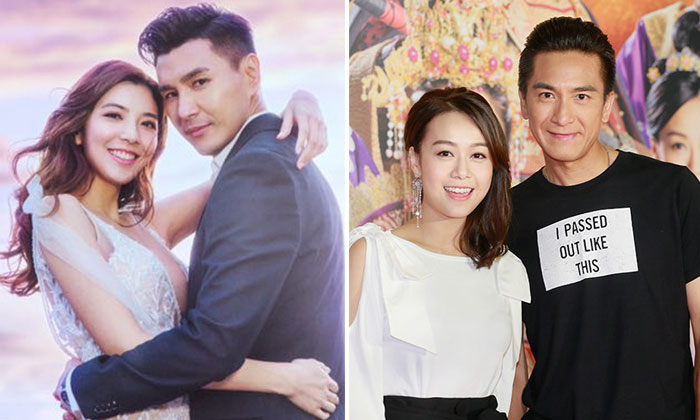 Ruco Chan and Phoebe Sin (left) and Kenneth Ma and Jacqueline Wong (right).