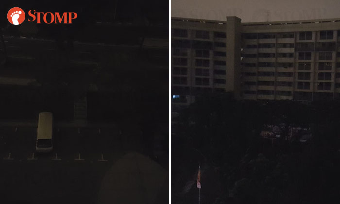 Photos of carpark and neighbourhood of Bedok North Street 1 taken from Block 201. Photos: A Stomper