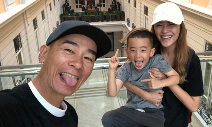 Jordan Chan, Cherrie Ying and their son Jasper. Photos: Weibo, Apple Daily, The New Paper