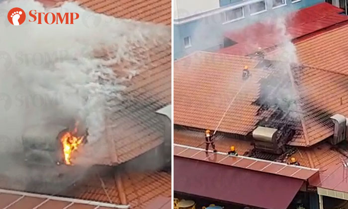 Fire breaks out at Jurong West coffeeshop - Stomp
