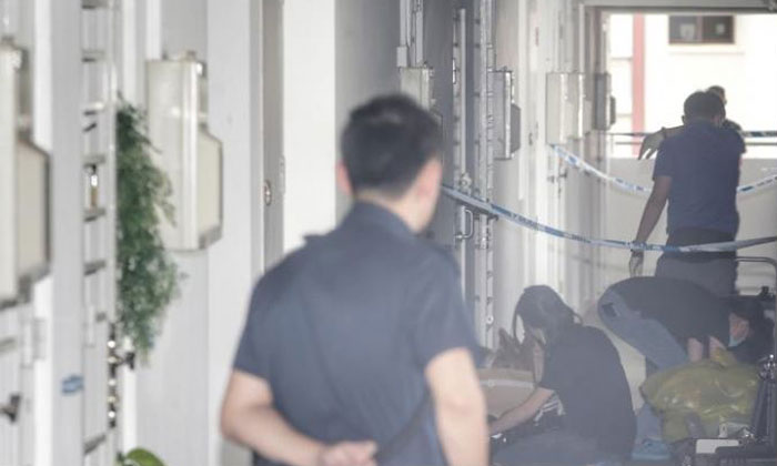 34-year-old man arrested for alleged murder after woman, 41, found dead in WoodlandsPolice found the woman dead in a room in Woodlands Avenue 6. PHOTO: LIANHE ZAOBAO