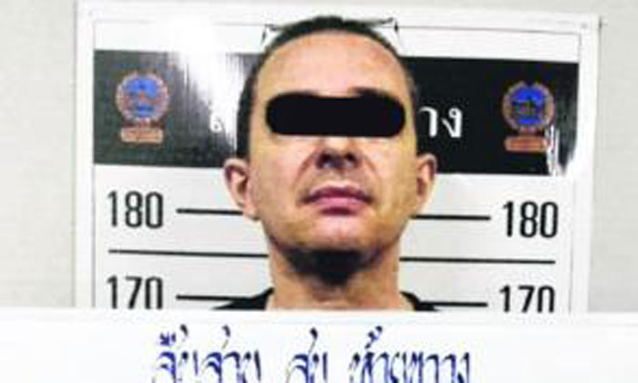 French-language teacher Jean-Christophe Quenot, 51, was arrested by police in a hotel room in Bangkok on Feb 4, 2019. PHOTO: THE NATION/ASIA NEWS NETWORK