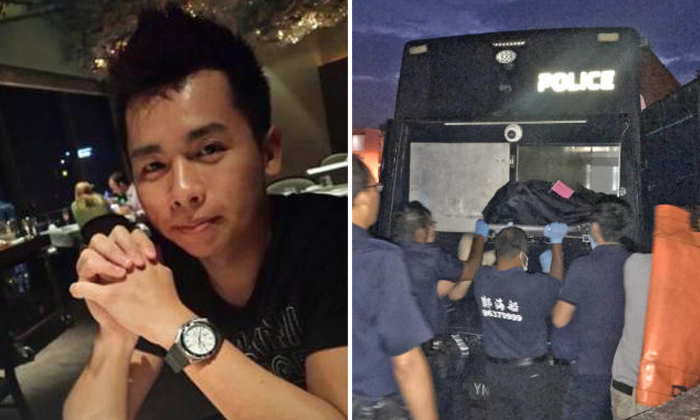 Mr Lin Xinjie (left), 30, the director of online retail company Jiji Singapore, was hacked to death yesterday by a 23-year-old employee at the company premises in Sungei Kadut. Photos: Facebook, The Straits Times, Lianhe Zaobao