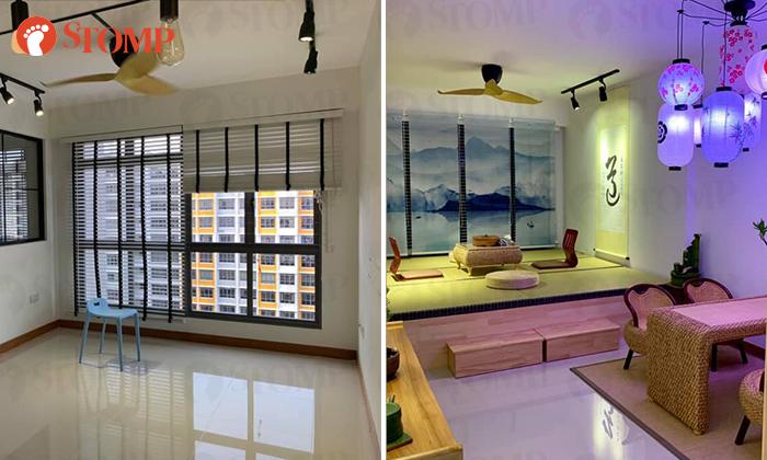 Singaporean Guy Spends 15k To Turn Regular Sengkang Hdb Flat Into Japanese Themed Living