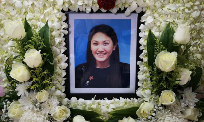 Malaysian production operator Mok Fei Chen died of multiple injuries at the scene when she and another woman were flung out of the bus when it crashed at Tuas Checkpoint. PHOTO: LIEW WEI KOK/FACEBOOK
