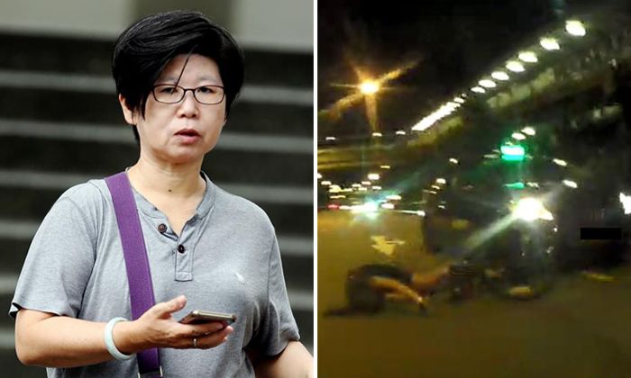 Lim Hoon Chiang (left), who pleaded guilty to causing grievous hurt by driving negligently, will also be disqualified from driving for two years after her release. Photos: The Straits Times, The New Paper