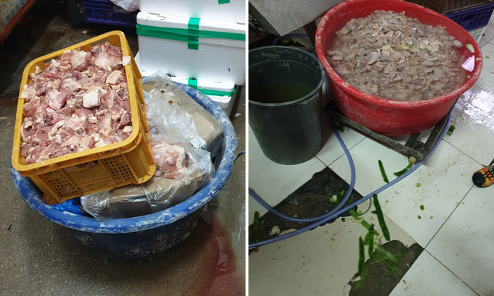 An SFA officer detected several lapses at AG (Global) Events Catering's premises during a round of routine inspection. (Photo: SFA)