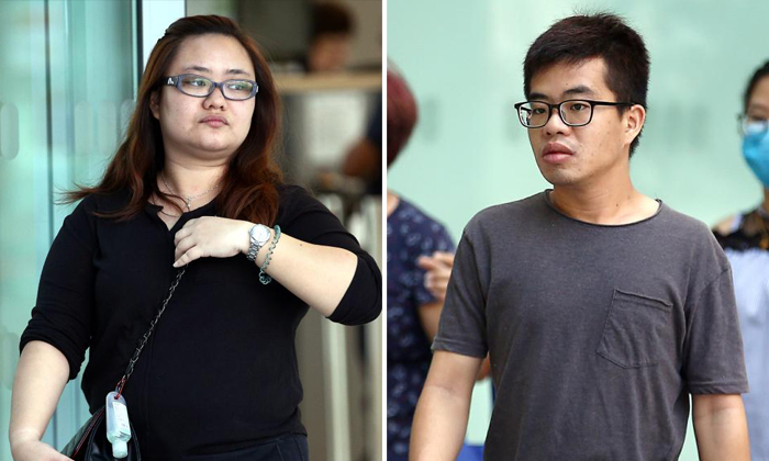 Amanda Yeo Pei Min told her lover Leong Wei Guo to loosen the wheel bolts of her husband's car and cut its brake wires. Photos: The Straits Times