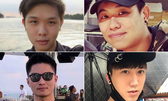 (Clockwise, from top left) Mr Jonathan Long, Mr Eugene Yap, Mr Gary Wong Hong Chieh and Mr Elvin Tan Yong Hao were among those who died. PHOTOS: JONATHAN LONG/FACEBOOK, YOUGENEEEE/INSTAGRAM, GARYWONGHC/INSTAGRAM, ELVIN TAN/FACEBOOK