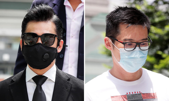 Terence Cao Guohui (left) and Lance Lim Chee Keong are accused of breaching phase two regulations. Photos: The Straits Times