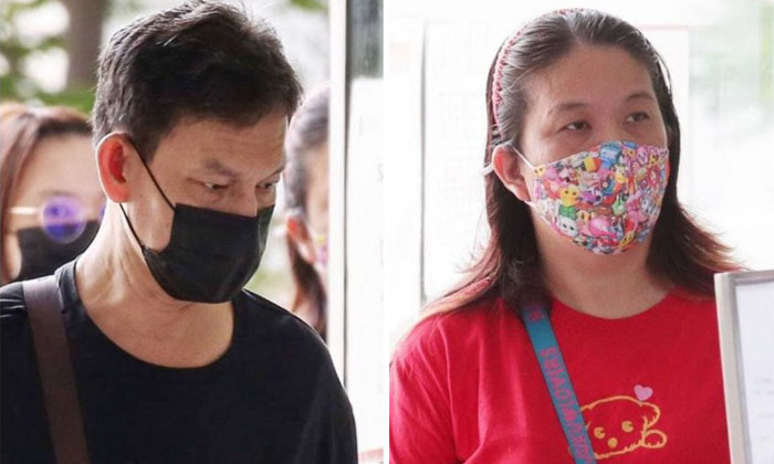 Cheang Eng Hock (left) and Lim Sok Lay had allegedly used vulgarities and made insulting remarks to their neighbours. ST PHOTO: KELVIN CHNG