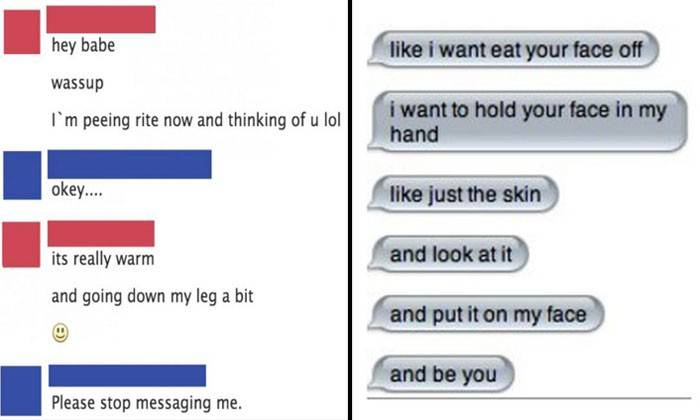 creepy messages that will make you think twice about giving your numbers to strangers