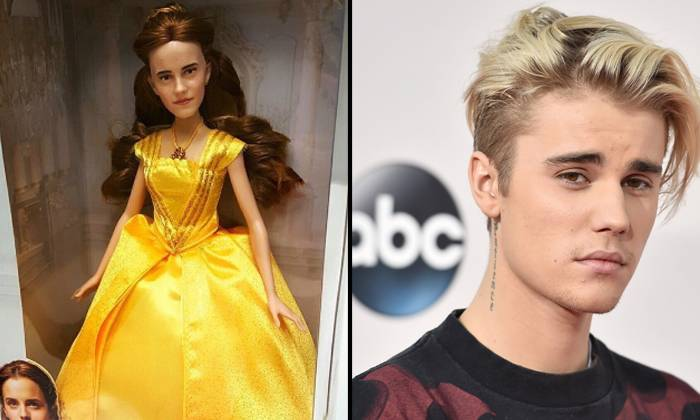 Err Why Does The Beauty And The Beast Belle Doll Look Like Justin Bieber In A Dress
