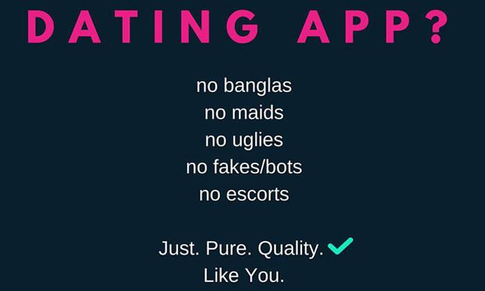 No banglas, no maids, no uglies': Upcoming S'pore dating app