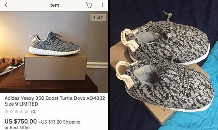 Yeezy-ly' after receiving fake Adidas shoes