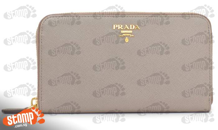 Help! Have you seen my grey Prada wallet which I lost at