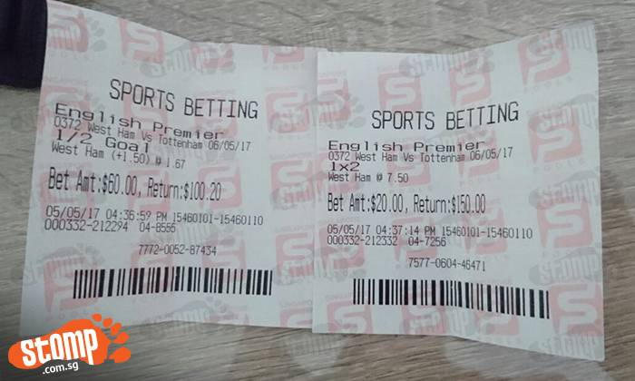 Football betting ticket how to bet online on the super bowl