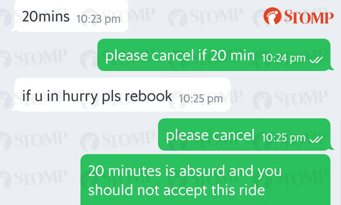 Grab passenger gets charged cancellation fee after driver