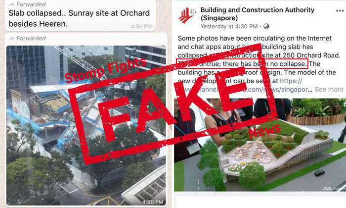 messages circulating of orchard rd building collapse are fake