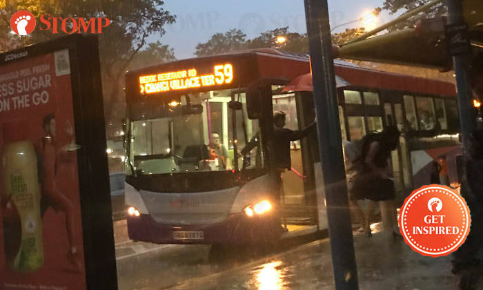 Bus Driver Makes Passengers Feel Warm On A Rainy Day By