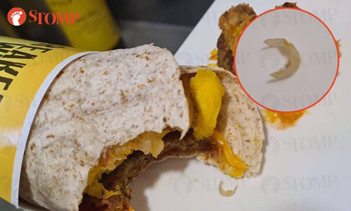 Potongan kuku di makanan McDonald's yang dipesan oleh Gavin.