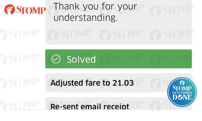 Passenger's $84 05 Uber fare adjusted to $21 03 after Stomp