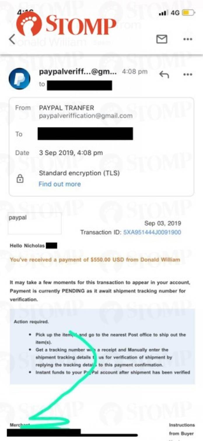 Scammer sends money to seller for camera lens through