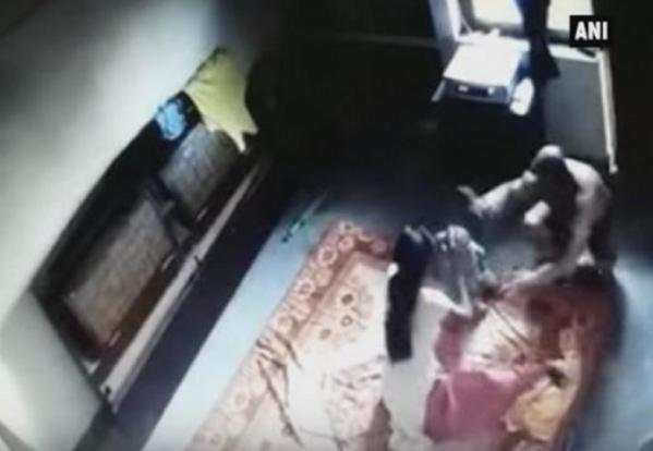 Man Catches Wife On Cctv Viciously Beating And Strangling