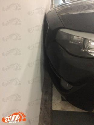 Bmw Kissing Wall Of Thomson Condo Carpark Is Still A