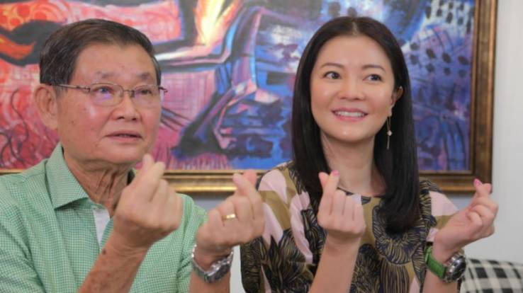 Very shocking to see dad 'all tubed up and vulnerable' after surgery, says Michelle Chong