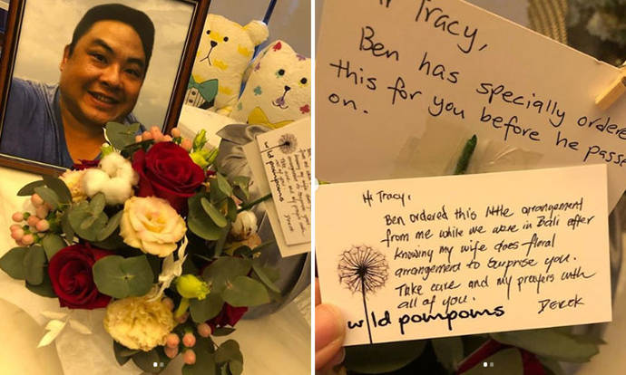 Popiah King's late son Ben Goi ordered Valentine's Day bouquet for wife Tracy Lee before he died