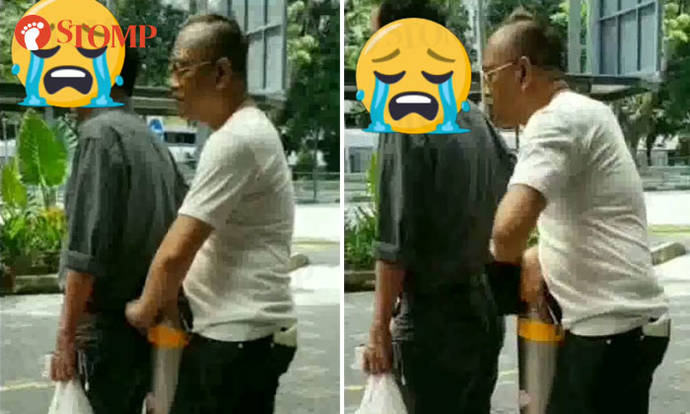 Woman catches man pulling wallet out of uncle's pocket at AMK Hub taxi stand