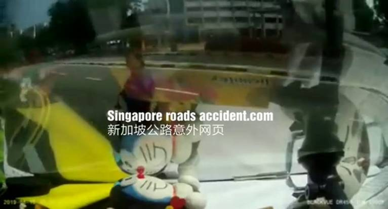 Woman killed in Jurong accident: Video shows her jaywalking and getting run over by van