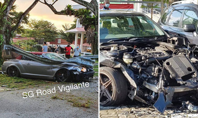 Woman, 67, taken to hospital after crashing Bentley into 4 stationary vehicles at Ang Mo Kio carpark - Stomp