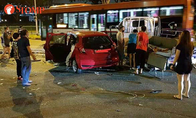 Man arrested for dangerous driving and drug-related offences after 4-vehicle accident at Bedok North Road - Stomp