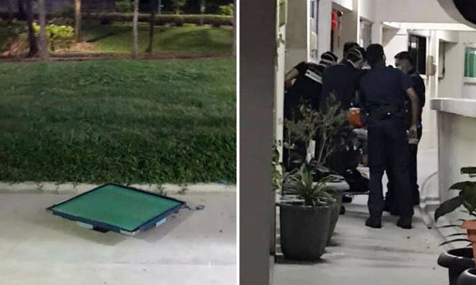 Man apprehended after throwing mahjong table down Chai Chee block - Stomp