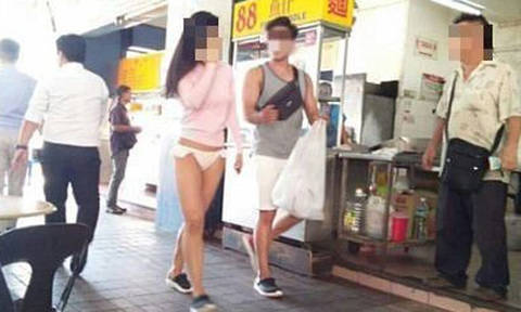 Woman walking around in bikini bottoms gets tongues wagging in Sabah