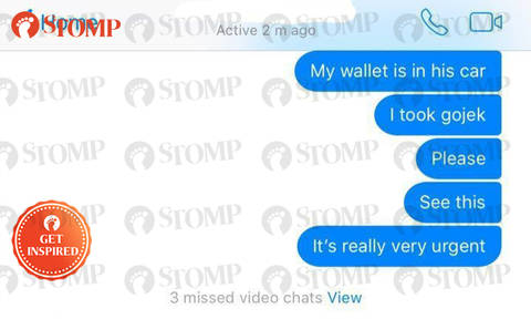 """Kind Go-Jek driver returns lost wallet to hungry and scared Stomper, says: """"This is Singapore"""""""
