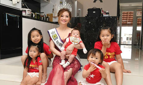 Grandma of five and Mrs Singapore runner-up reveals how she maintains her good looks